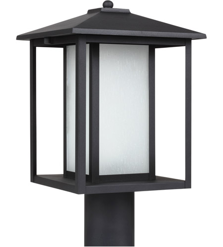 Sea Gull 89129BL-12 Hunnington 1 Light 15 inch Black Outdoor Post Lantern photo