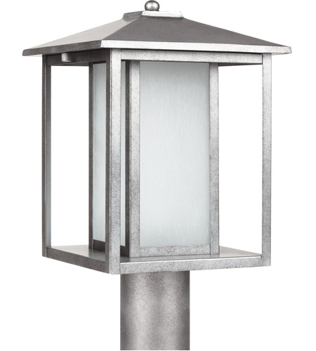 Sea Gull Hunnington 1 Light Outdoor Post Lantern in Weathered Pewter 89129BL-57