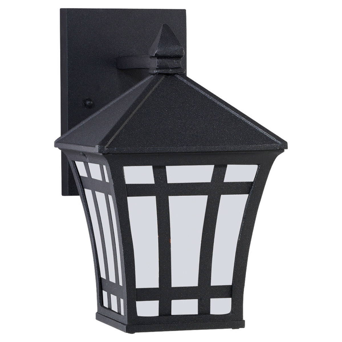 Sea Gull Lighting Herrington 1 Light Outdoor Wall Lantern in Black 89131PBLE-12 photo