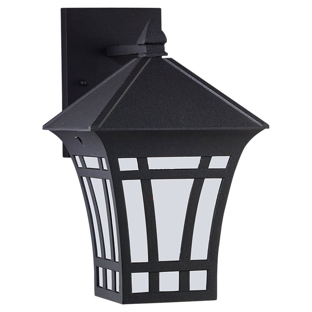Sea Gull Lighting Herrington 1 Light Outdoor Wall Lantern in Black 89132BLE-12