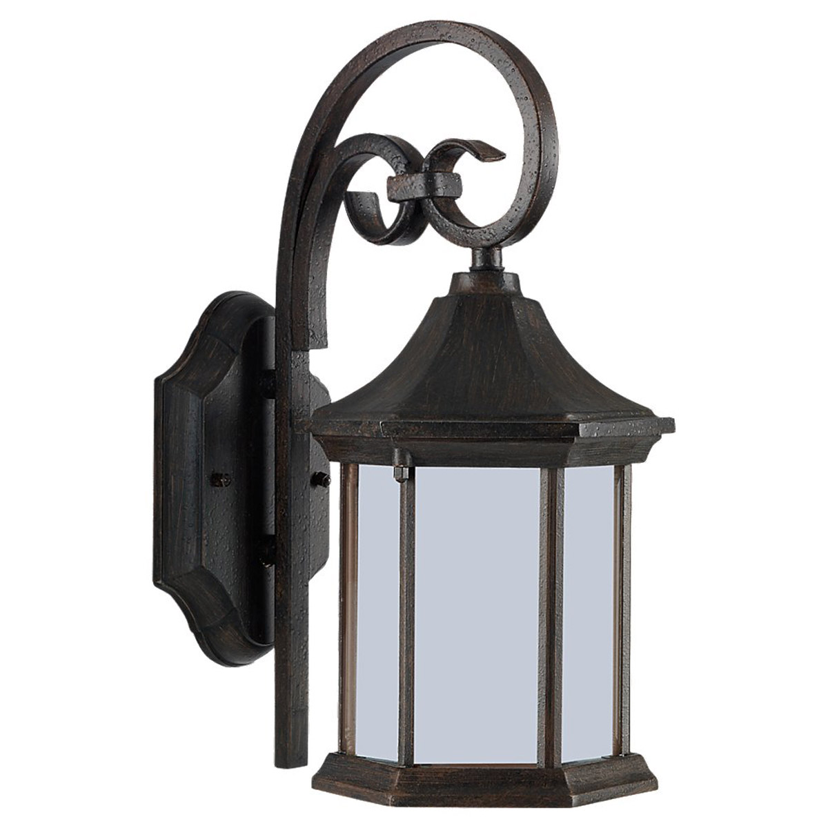 Sea Gull Lighting Ardsley Court 1 Light Outdoor Wall Lantern in Textured Rust Patina 89136BLE-08