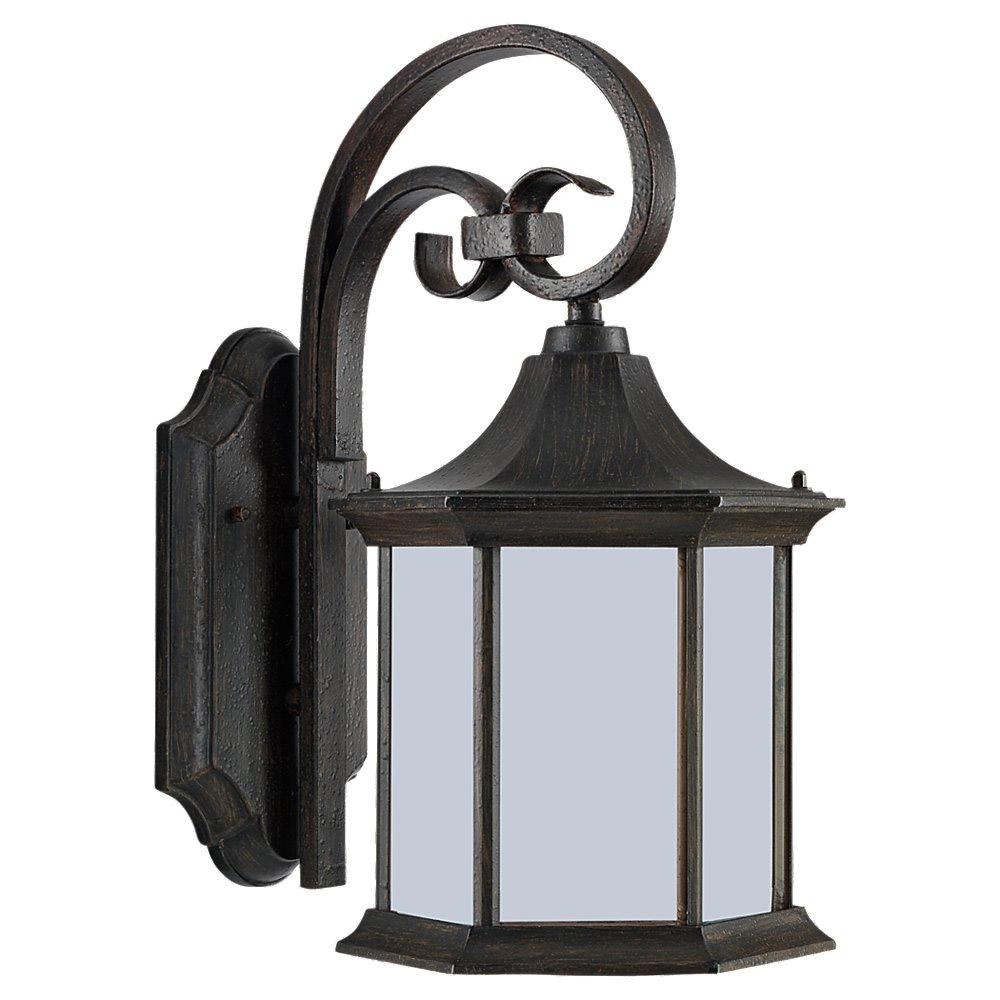 Sea Gull Lighting Ardsley Court 1 Light Outdoor Wall Lantern in Textured Rust Patina 89137BLE-08 photo