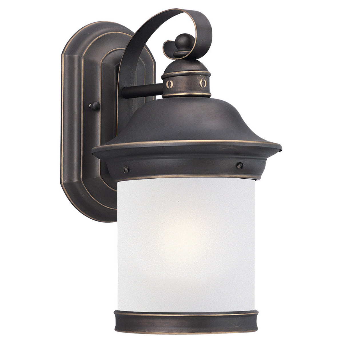 Sea Gull Lighting Hermitage 1 Light Outdoor Wall Lantern in Antique Bronze 89181BL-71