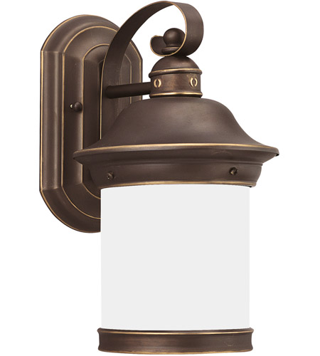 Sea Gull Lighting Hermitage 1 Light Outdoor Wall Lantern in Antique Bronze 89181BLE-71