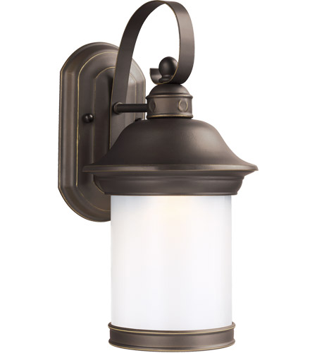 Sea Gull 89181DEN3-71 Hermitage 1 Light 14 inch Antique Bronze Outdoor Wall Lantern photo