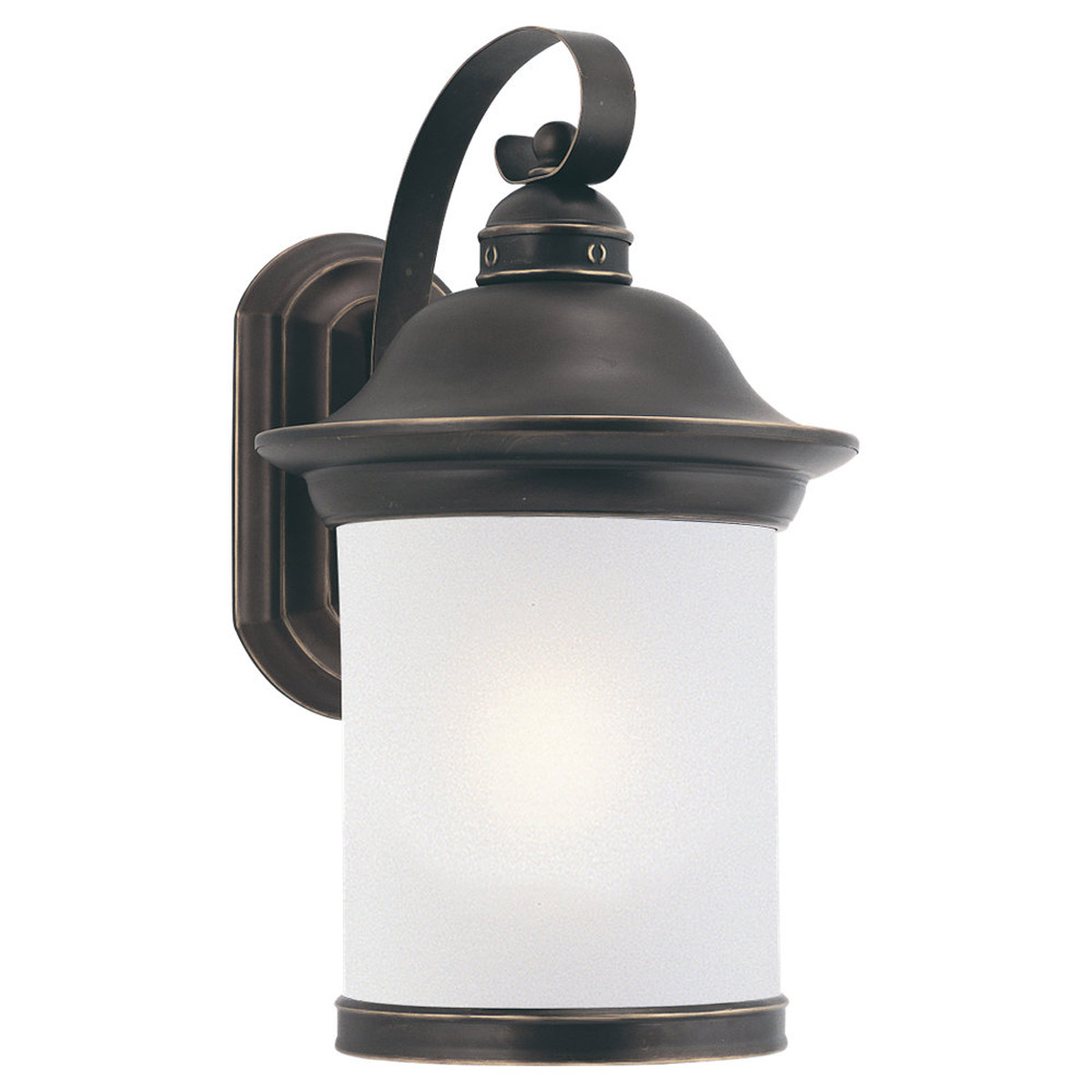 Sea Gull Lighting Hermitage 1 Light Outdoor Wall Lantern in Antique Bronze 89192BLE-71