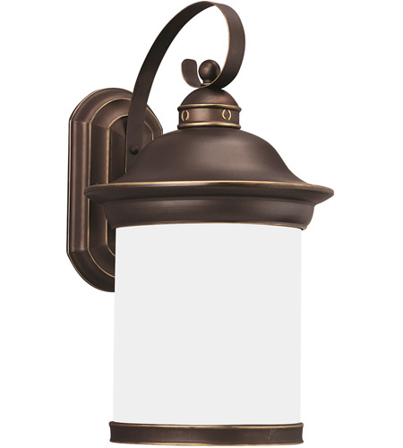 Sea Gull 89193BLE-71 Hermitage 1 Light 20 inch Antique Bronze Outdoor Wall Lantern in No Photocell, Energy Efficient photo
