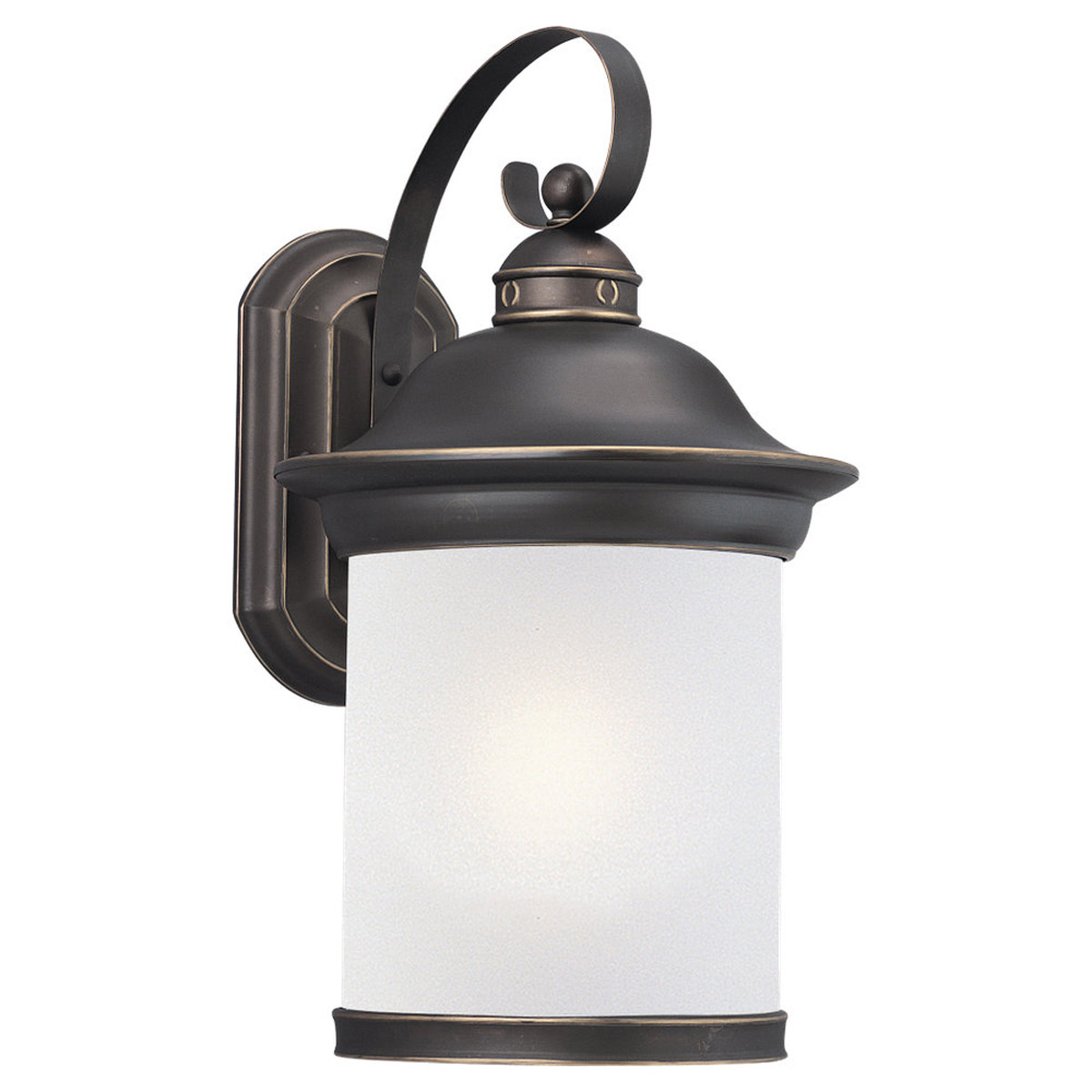 Sea Gull Lighting Hermitage 1 Light Outdoor Wall Lantern in Antique Bronze 89193PBLE-71