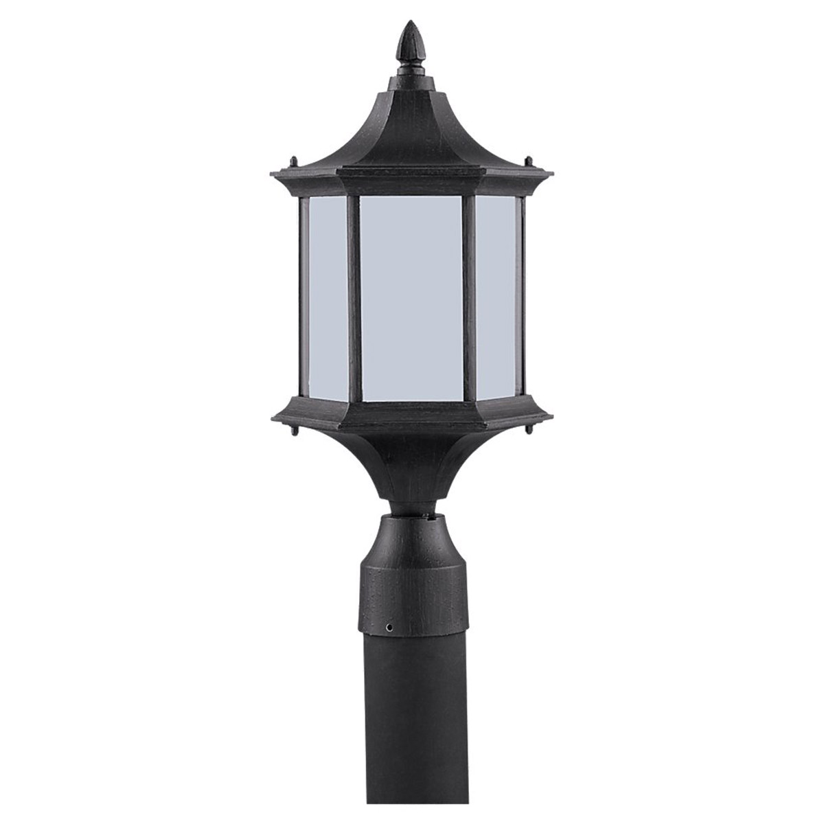 Sea Gull Lighting Ardsley Court 1 Light Outdoor Post Lantern in Textured Rust Patina 89236BL-08