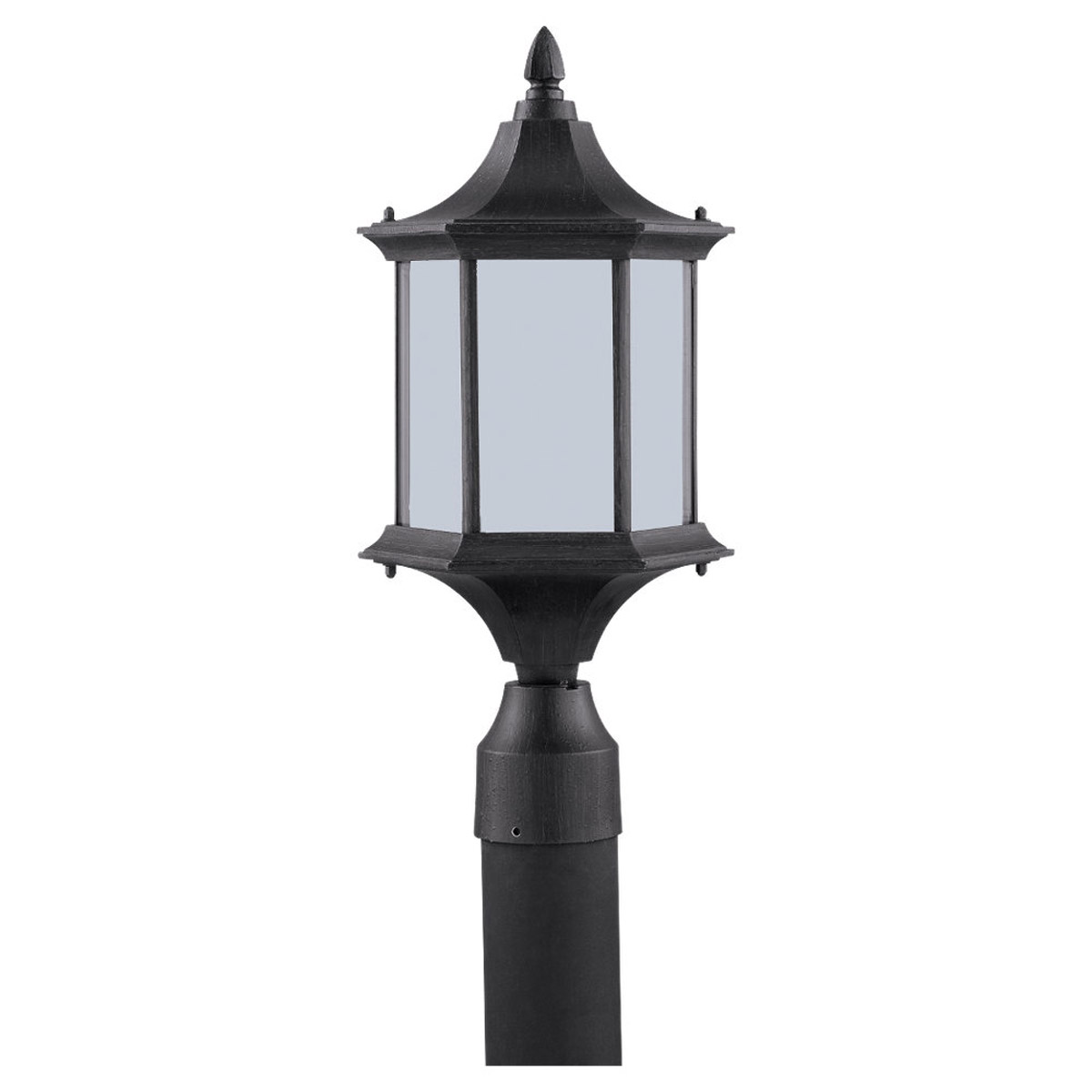 Sea Gull Lighting Ardsley Court 1 Light Outdoor Post Lantern in Textured Rust Patina 89236PBLE-08
