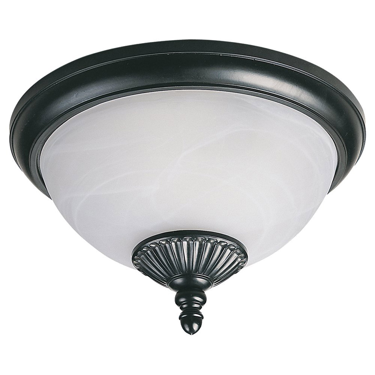 Sea Gull LightingYorktown 2 Light Outdoor Flush Mount in Black 89248PBLE-12 photo