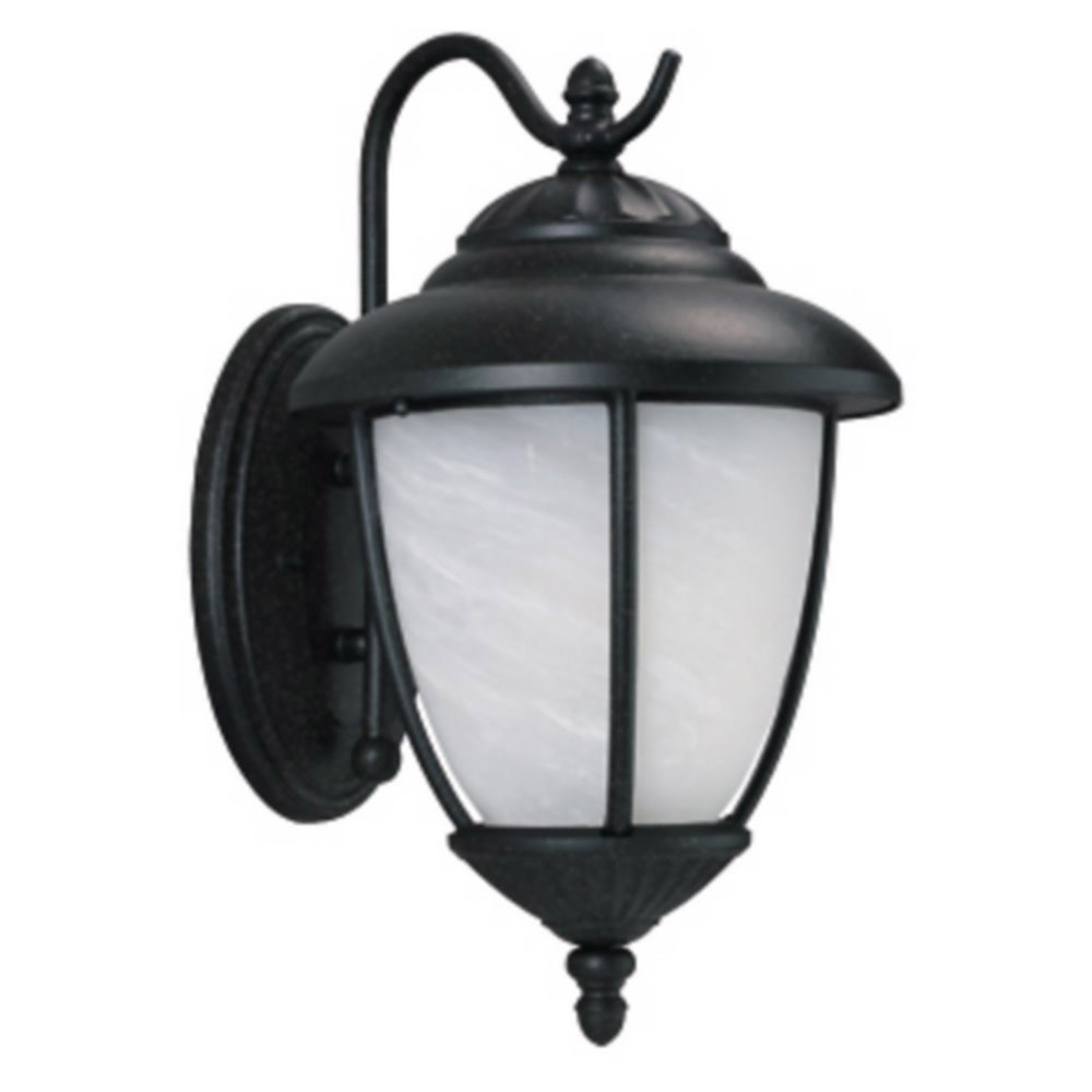 Sea Gull 89250BLE-12 Yorktowne 1 Light 16 inch Black Outdoor Wall Lantern in No Photocell, Energy Efficient photo