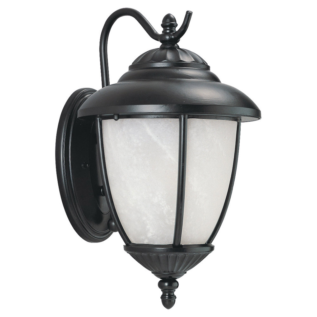Sea Gull 89250PBLE-12 Yorktowne 1 Light 16 inch Black Outdoor Wall Lantern in Photocell, Energy Efficient photo