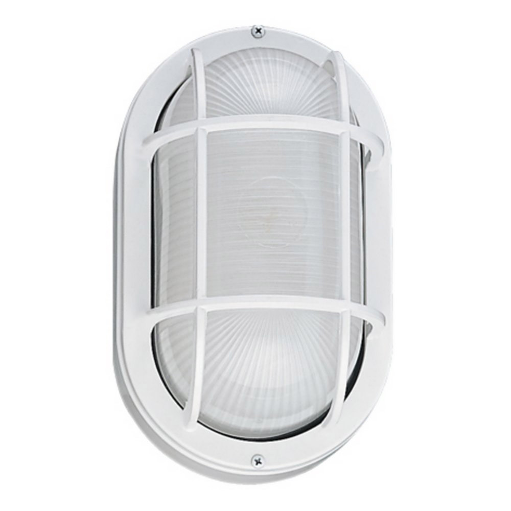 Sea Gull Lighting Riverside 1 Light Outdoor Wall Lantern in White 8927BLE-15 photo
