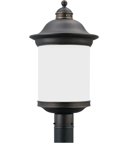 Sea Gull Lighting Hermitage 1 Light Outdoor Post Lantern in Antique Bronze 89298BL-71 photo