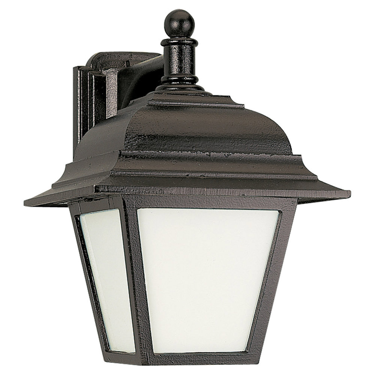 Sea Gull Lighting Bancroft 1 Light Outdoor Wall Lantern in Black 89316PBLE-12