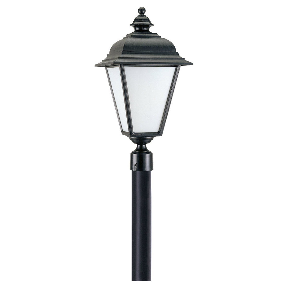 Sea Gull Lighting Bancroft 1 Light Outdoor Post Lantern in Black 89322BL-12