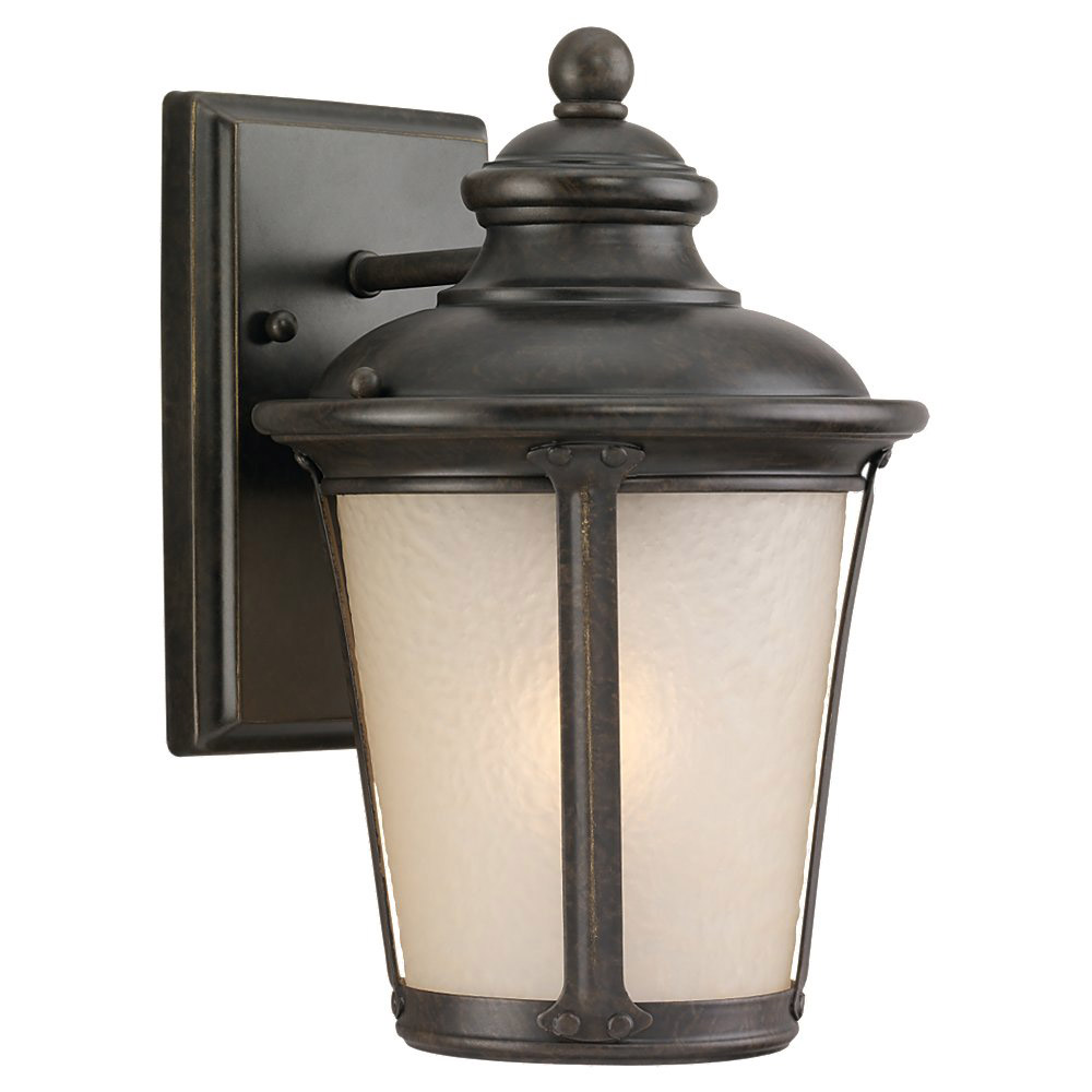 Sea Gull 89340BLE-780 Cape May 1 Light 10 inch Burled Iron Outdoor Wall Lantern in Energy Efficient photo