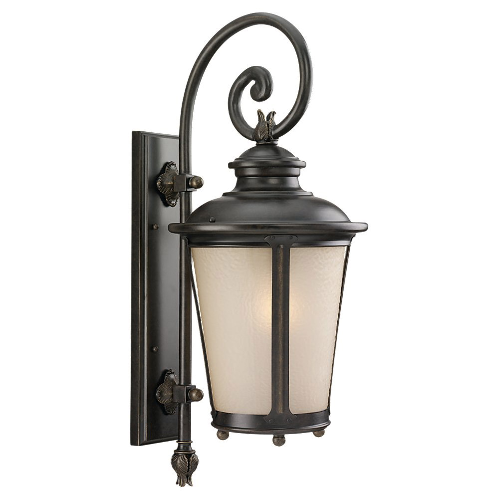 Sea Gull 89342BLE-780 Cape May 1 Light 27 inch Burled Iron Outdoor Wall Lantern in Energy Efficient photo
