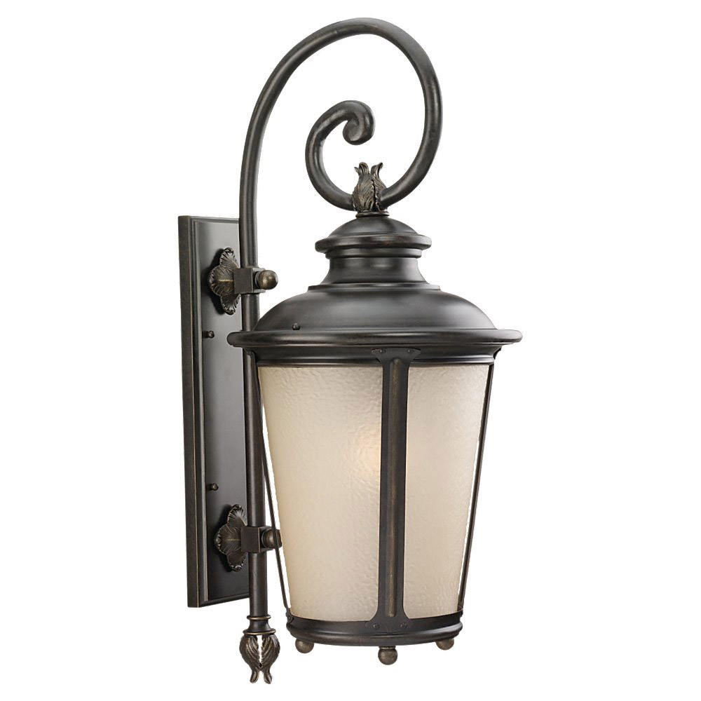Sea Gull 89343BLE-780 Cape May 1 Light 30 inch Burled Iron Outdoor Wall Lantern in Energy Efficient photo