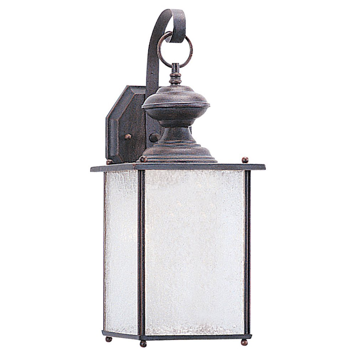 Sea Gull 89382BLE-08 Jamestowne 1 Light 17 inch Textured Rust Patina Outdoor Wall Lantern in No Photocell, Energy Efficient photo
