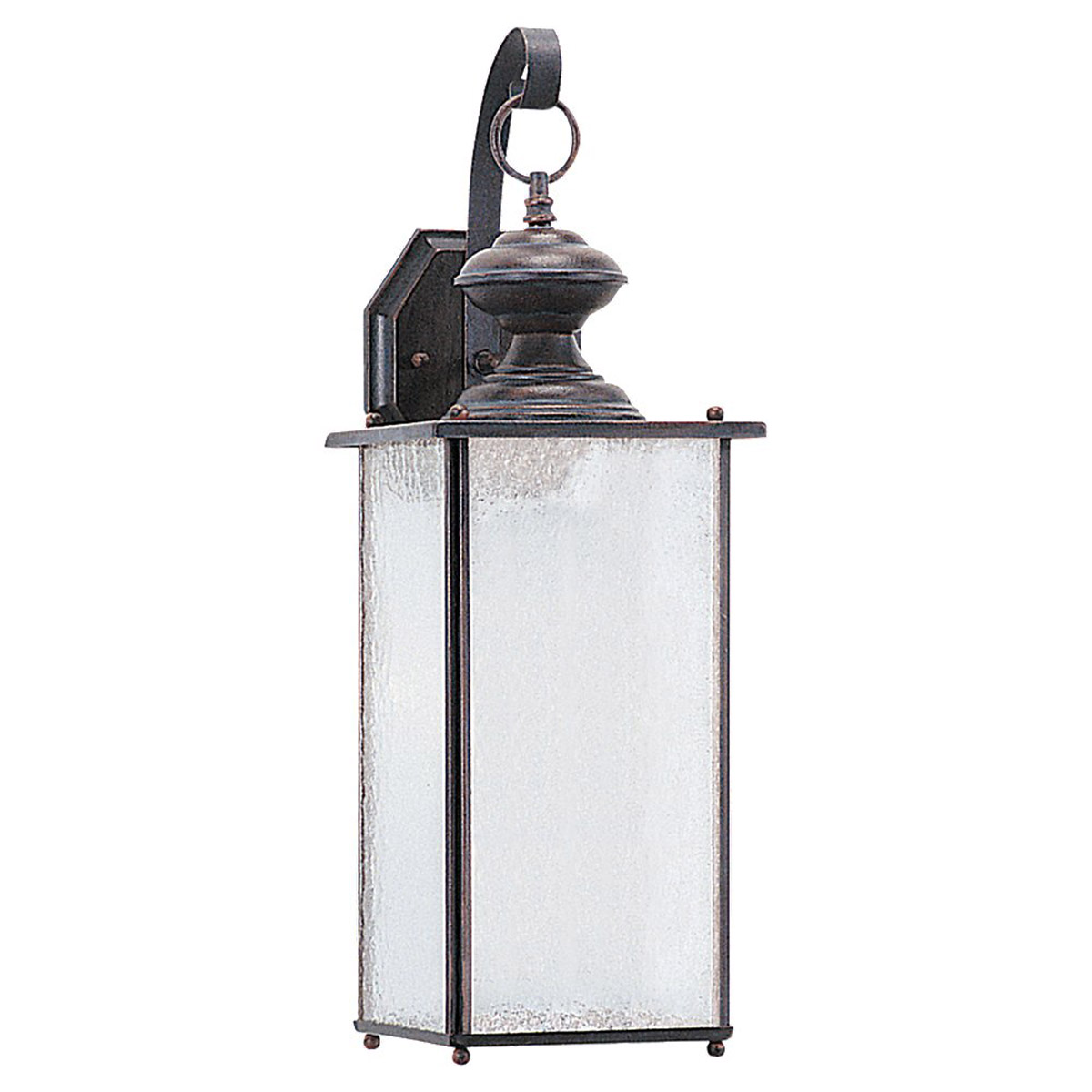 Sea Gull Lighting Jamestowne 1 Light Outdoor Wall Lantern in Textured Rust Patina 89383BLE-08
