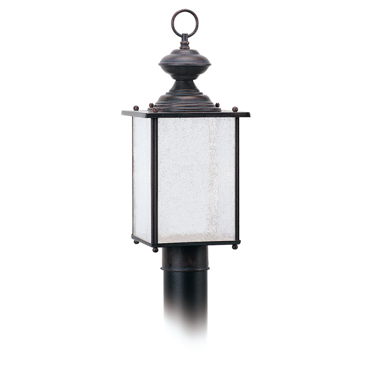 Sea Gull Lighting Jamestowne 1 Light Outdoor Wall Lantern in Textured Rust Patina 89386PBLE-08