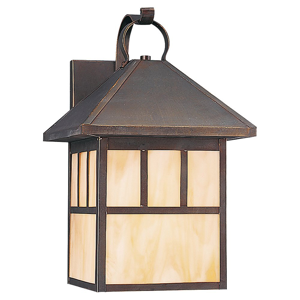 Sea Gull Lighting Prairie Statement 1 Light Outdoor Wall Lantern in Antique Bronze 89417BLE-71 photo