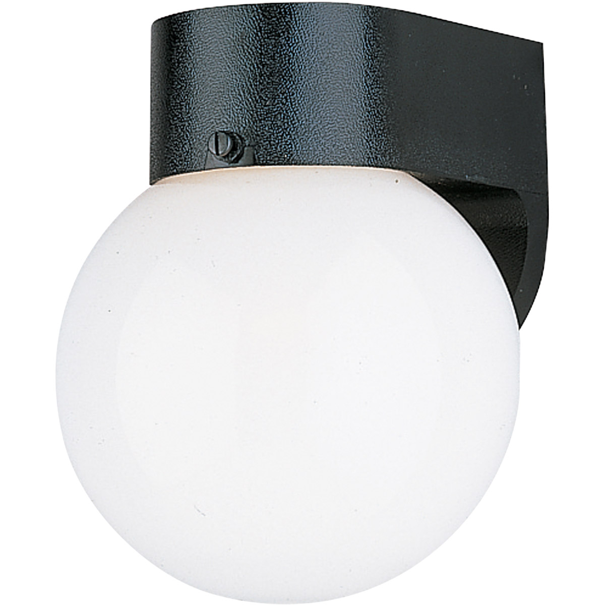 Sea Gull 8955BLE-12 Signature 1 Light 8 inch Black Outdoor Wall Lantern in No Photocell, Energy Efficient photo