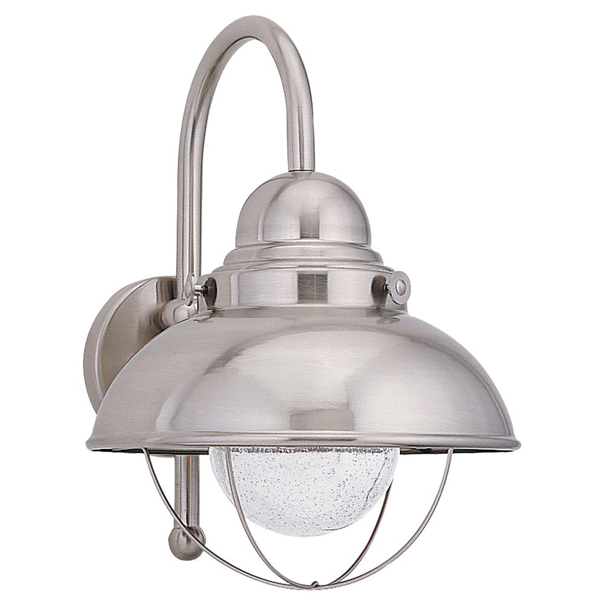 Sea Gull Lighting Sebring 1 Light Outdoor Wall Lantern in Brushed Stainless 89571BLE-98