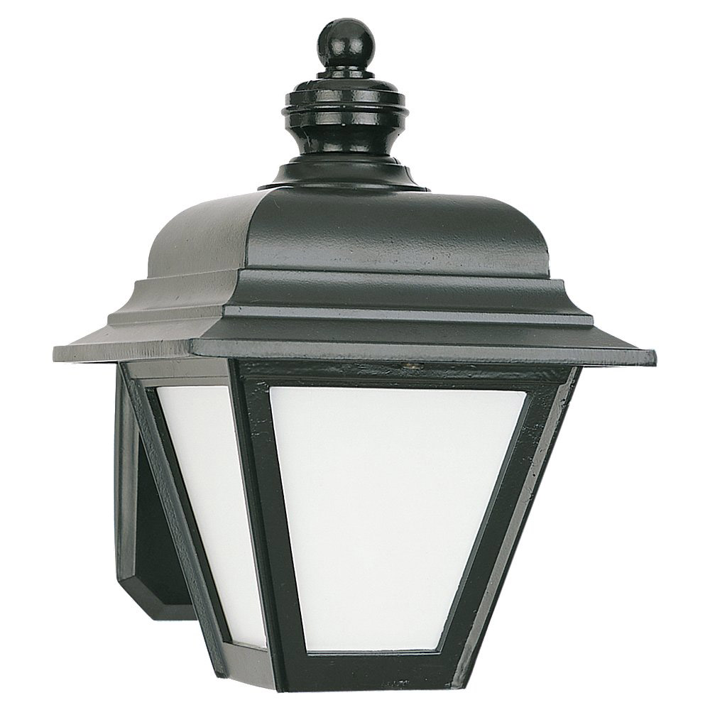 Sea Gull 8972BLE-12 Bancroft 1 Light 10 inch Black Outdoor Wall Lantern in No Photocell photo