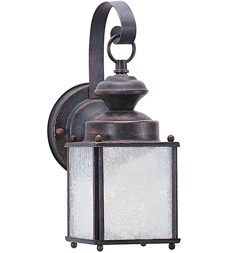 Sea Gull 8980BLE-08 Jamestowne 1 Light 11 inch Textured Rust Patina Outdoor Wall Lantern in No Photocell, Energy Efficient photo