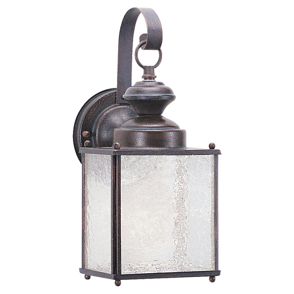 Sea Gull 8981BLE-08 Jamestowne 1 Light 13 inch Textured Rust Patina Outdoor Wall Lantern in No Photocell, Energy Efficient photo
