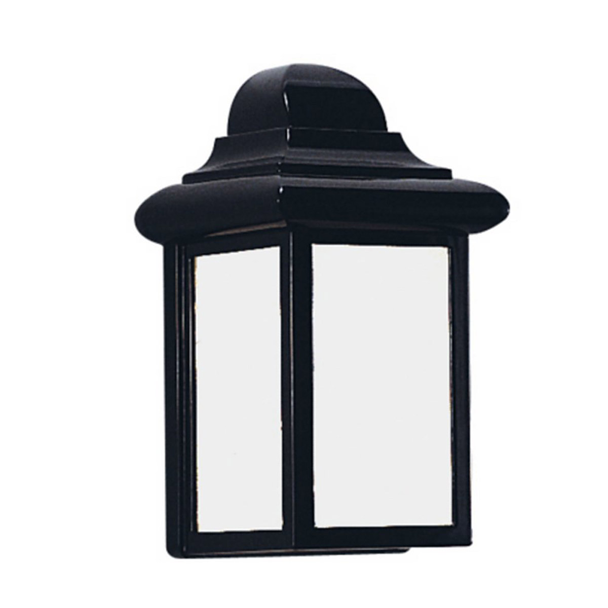 Sea Gull Lighting Mullberry Hill 1 Light Outdoor Wall Lantern in Black 8988BLE-12
