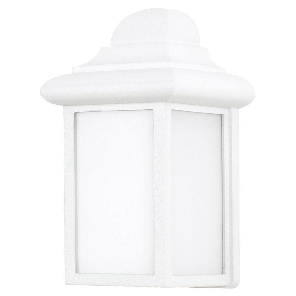 Sea Gull Lighting Mullberry Hill 1 Light Outdoor Wall Lantern in White 8988BLE-15