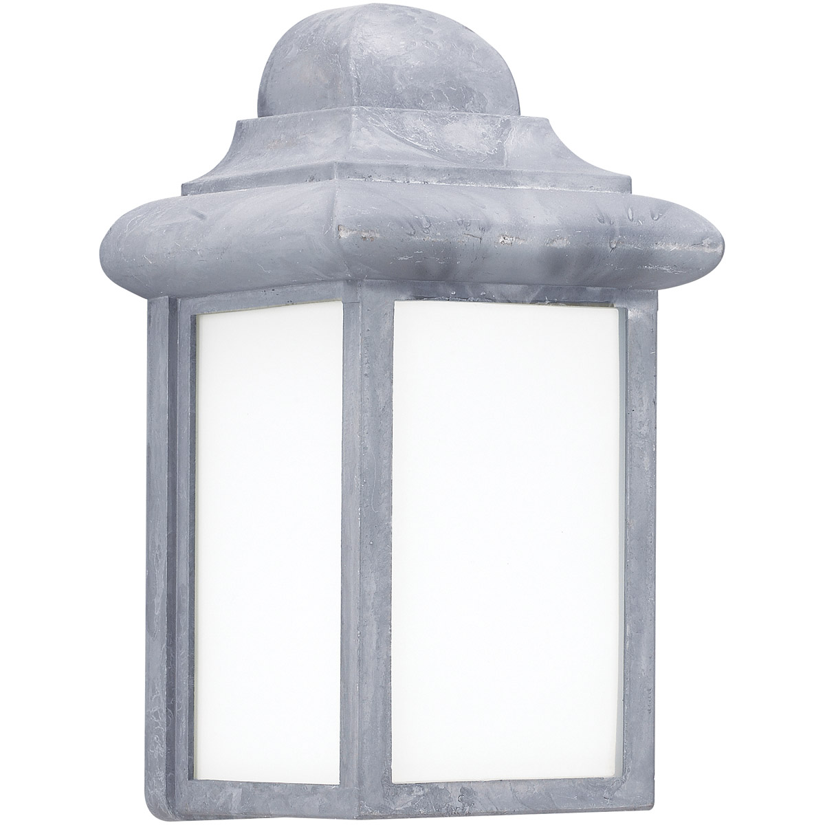 Sea Gull 8988BLE-155 Mullberry Hill 1 Light 9 inch Pewter Outdoor Wall Lantern in Pewter 155, No Photocell, Energy Efficient photo