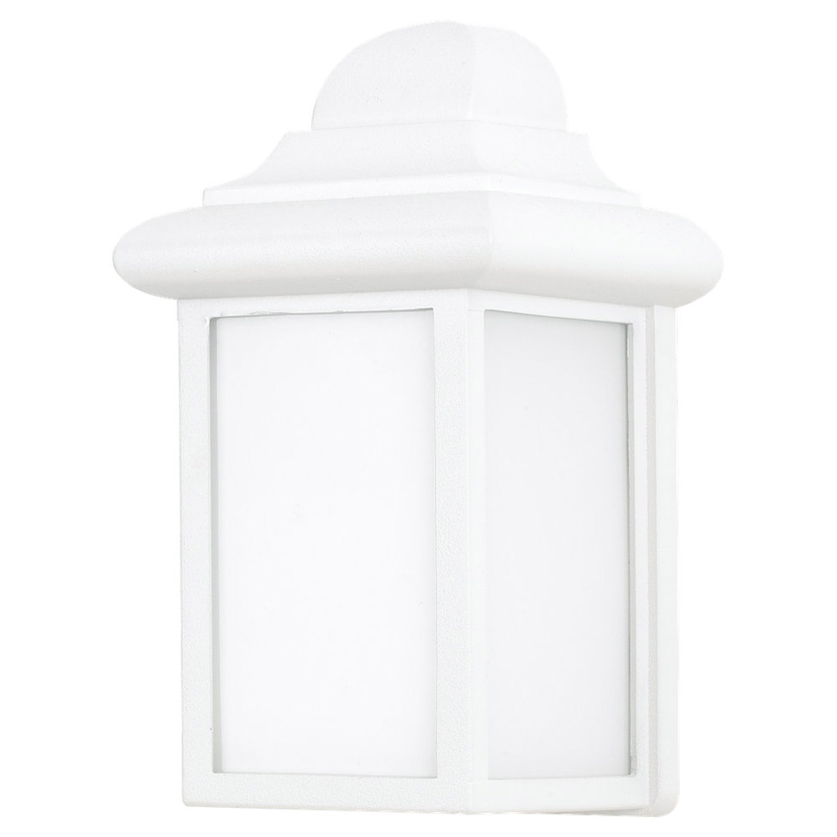 Sea Gull Lighting Mullberry Hill 1 Light Outdoor Wall Lantern in White 8988PBLE-15 photo