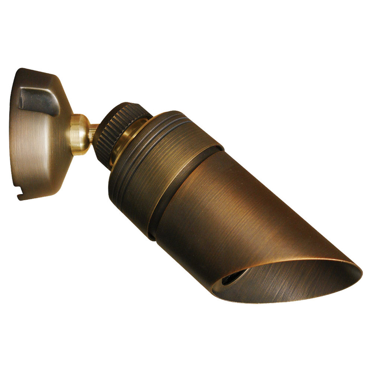 Sea Gull Lighting Meridian 1 Light Landscape Light in Weathered Brass 91107-147 photo