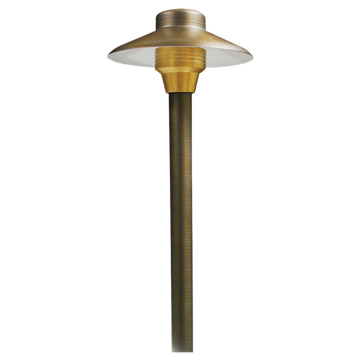 Sea Gull Lighting Meridian 1 Light Landscape Path Light in Weathered Brass 91176-147 photo