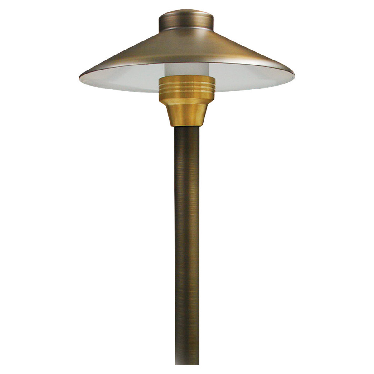 Sea Gull Lighting Meridian 1 Light Landscape Path Light in Weathered Brass 91188-147 photo