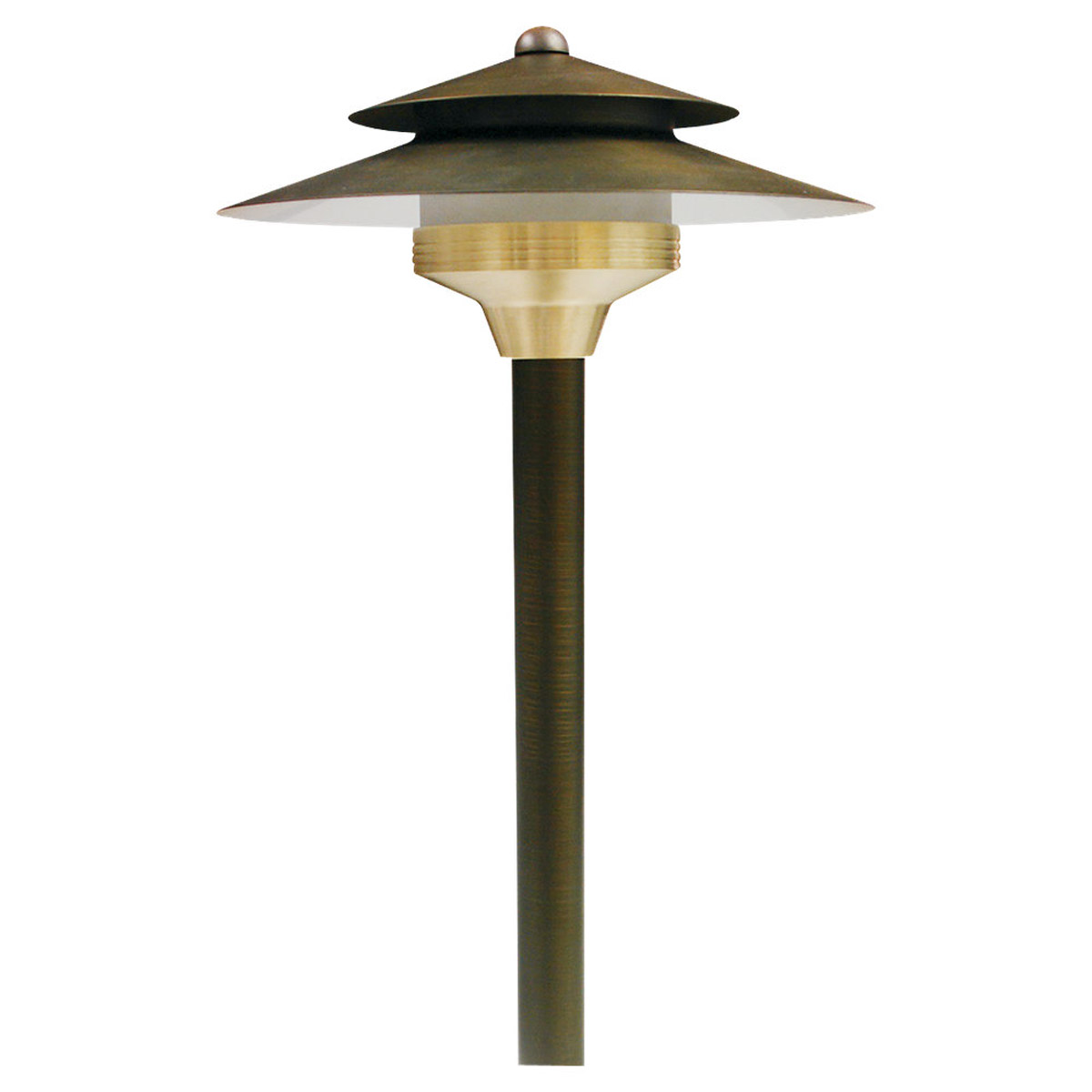 Sea Gull Lighting Meridian 1 Light Landscape Path Light in Weathered Brass 91189-147 photo