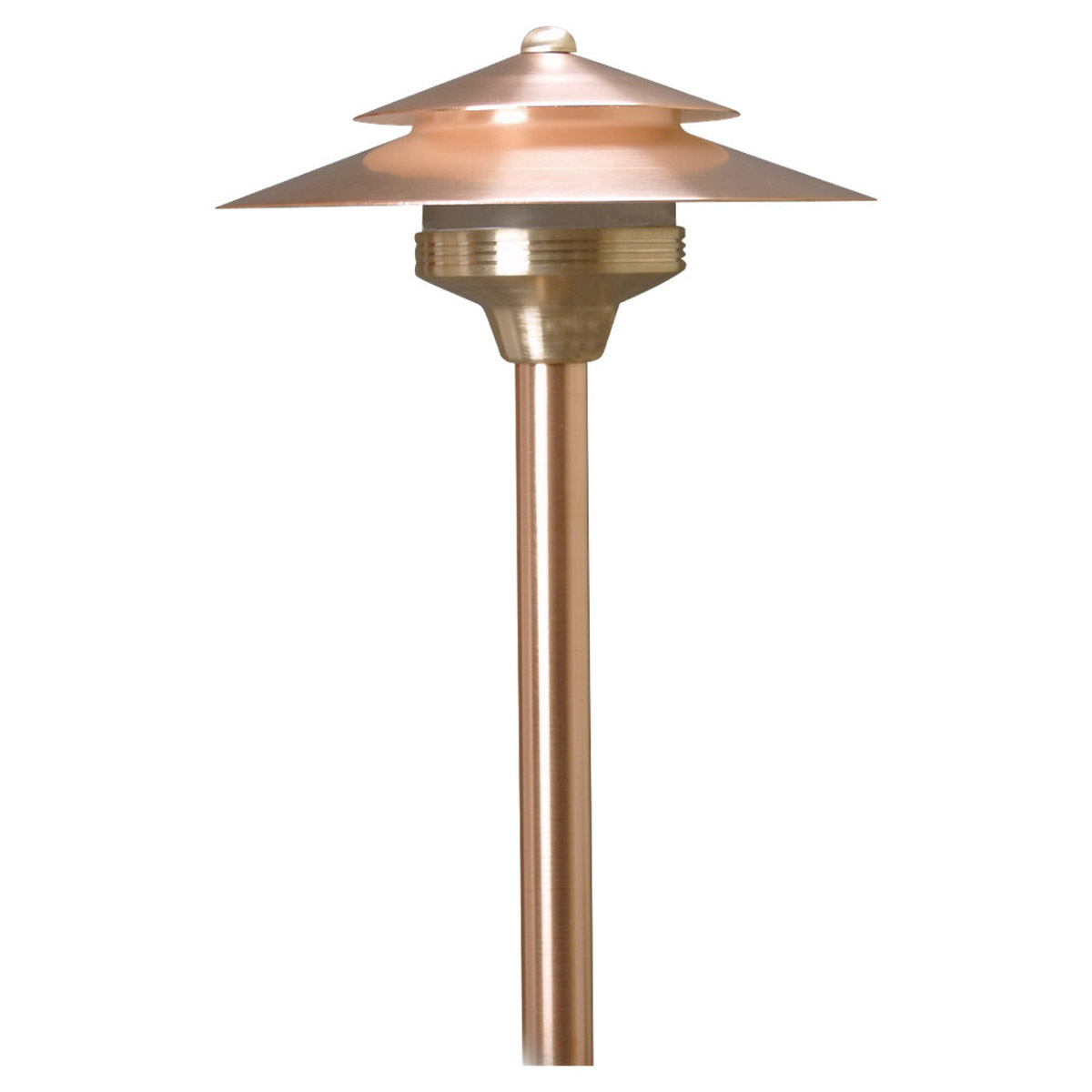 Sea Gull Lighting Cypress-Unique 1 Light Landscape Path Light in Natural Copper 91190-148 photo