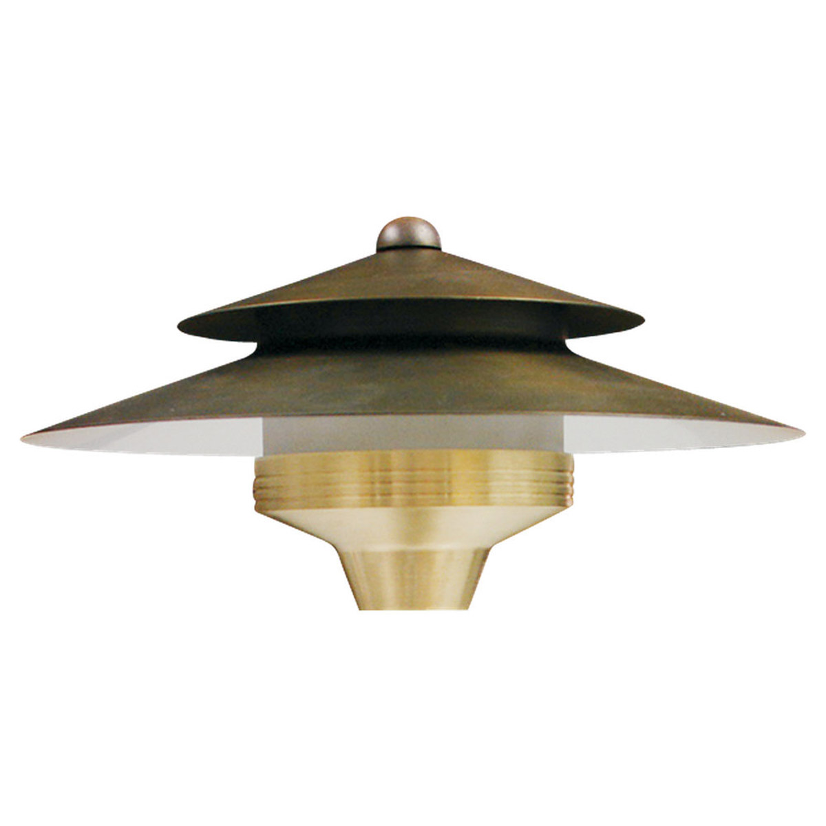 Sea Gull Lighting Signature 1 Light Landscape Path Light in Weathered Brass 91238-147 photo