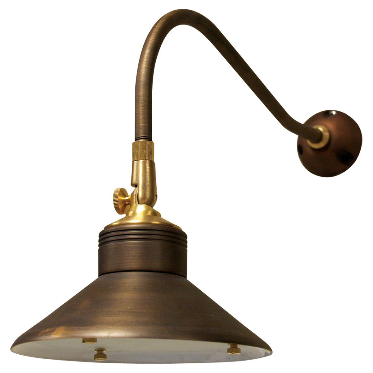 Sea Gull Lighting Signature 1 Light Landscape Light in Weathered Brass 91461-147 photo