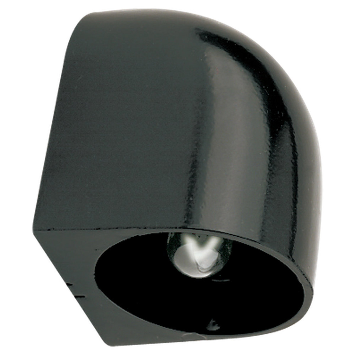 Sea Gull Lighting 2 Light Landscape Lighting Surface Mounted Deck Light in Black 9396-12