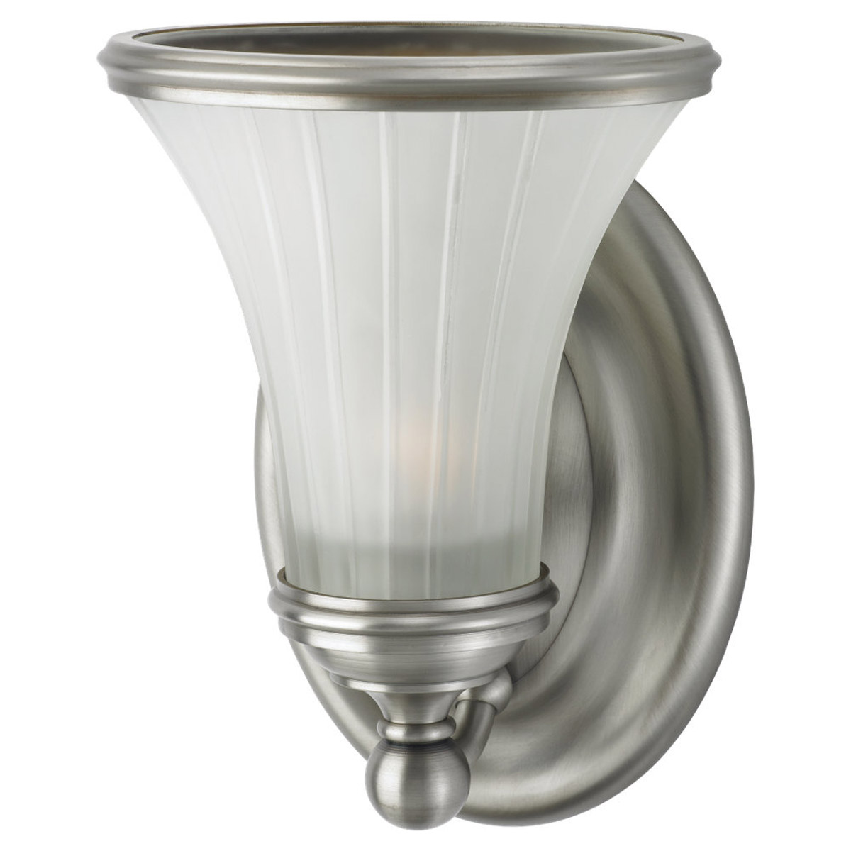 Sea Gull Lighting Torry 1 Light Wall / Bath / Vanity in Antique Brushed Nickel / Satin Etched 94183-965