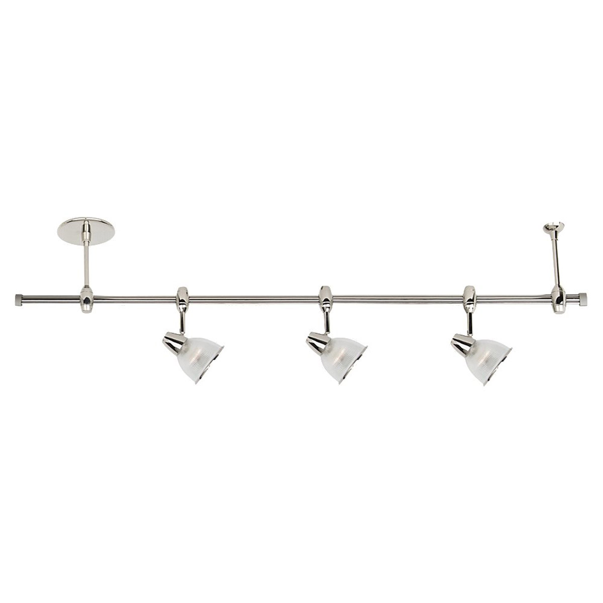 Sea Gull Lighting Ambiance Transitions 3 Light Rail Kit in Polished Nickel 94477-841