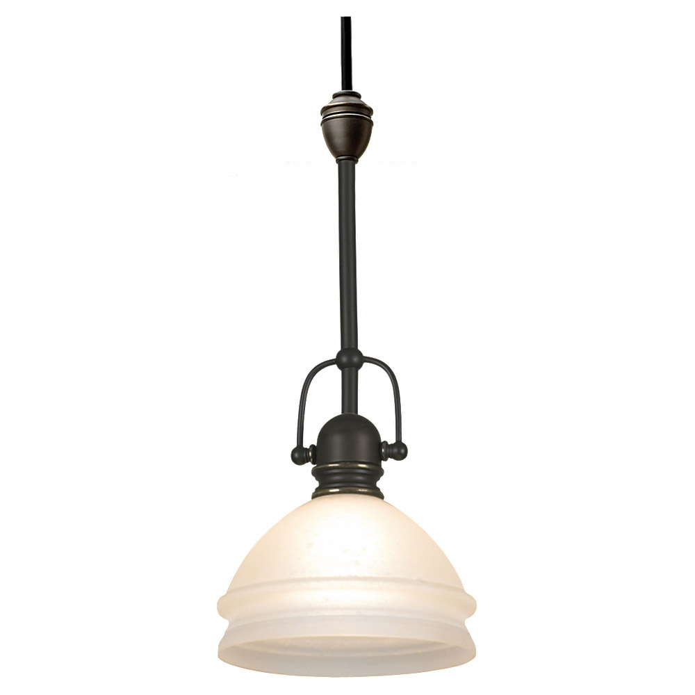 Sea Gull Lighting Ambiance Transitions Trenton Complete Pendant Assembly in Antique Bronze / Dusted Ivory 94561-71 photo