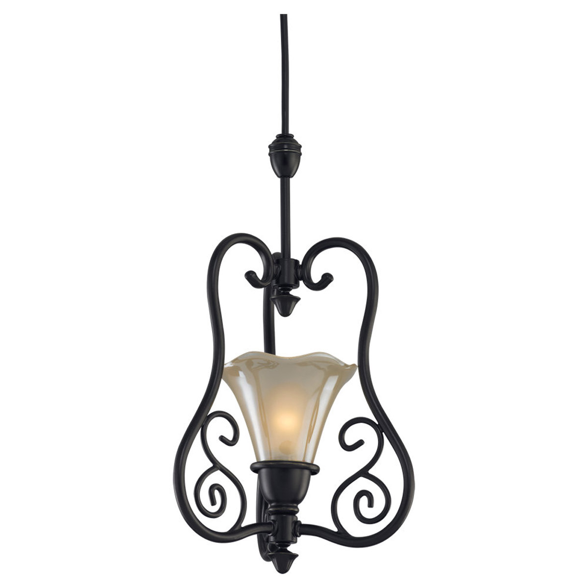 Sea Gull Lighting Trudy 1 + 1 Light Complete Pendant Assembly in Antique Bronze 94565-71