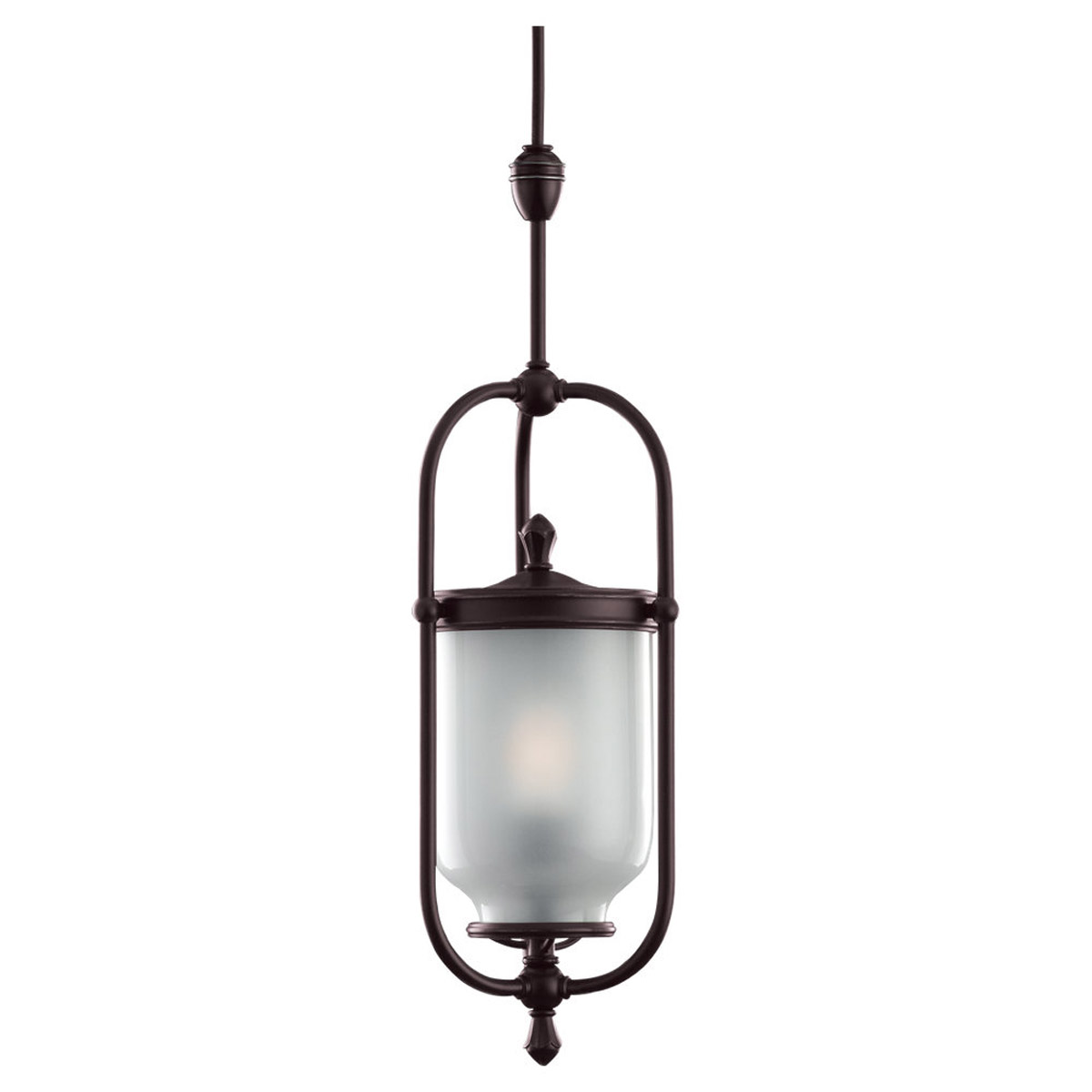 Sea Gull Lighting Wallace 1 + 1 Light Complete Pendant Assembly in Antique Bronze 94566-71